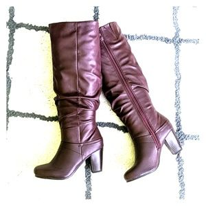 Shoes - NWOT Burgundy Oxblood Tall Boots